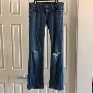 J brand jeans size 27 bootleg distressed.